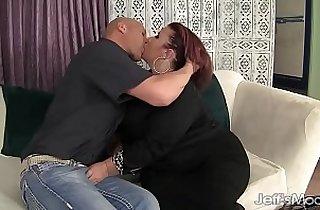 ass, BBW, blowjob, boobs, tits, cream, fatty, Giant boob