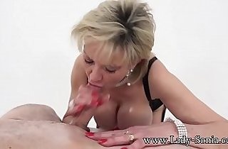 blonde, blowjob, boobs, tits, cream, England, Giant boob, giant titties