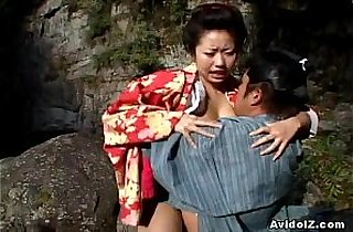 asians, creampies, hairypussy, japaneses, masturbating, outdoor