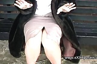 England, flashing, MILF porno, outdoor, public place, softcore, voyeurism