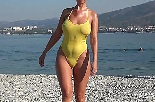 beach, boobs, flashing, MILF porno, outdoor, public place, xxx rough, wet cunt