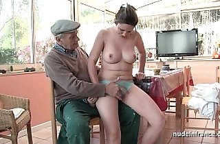 amateur sex, banging, blowjob, boobs, brunette, tits, europe, grandpa xxx