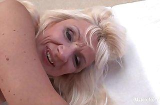 ass, blonde, tits, cream, cumshots, facialized, grannies, hardcore sex