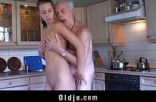 blowjob, brunette, cream, cumshots, fetishes, grandpa xxx, old-young, leaking