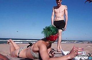 beach, blowjob, boobs, cream, cumshots, emo punk, public place, pussycats
